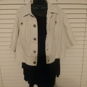 Lane Bryant Crop Jacket Sz 16